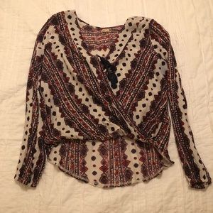 Hollister Aztec printed blouse
